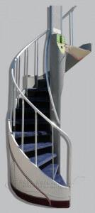 14-23  Staircase, Circular - 747