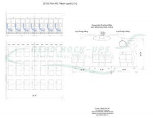 20' OSP WB 7 rows x 7 across Coach seats