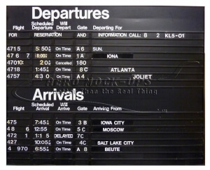 Flight Info Board, Wall Mount