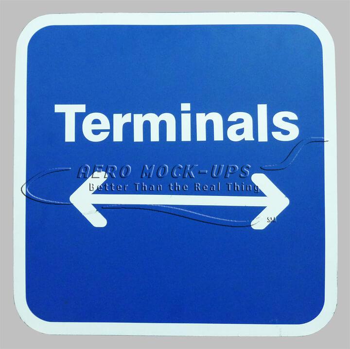 Terminals (arrows) sign