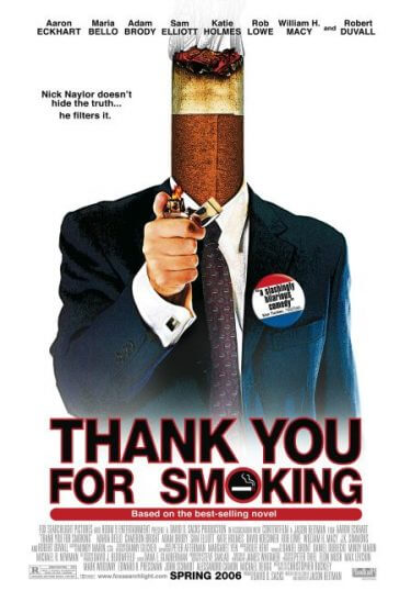 Thank Your for Smoking poster