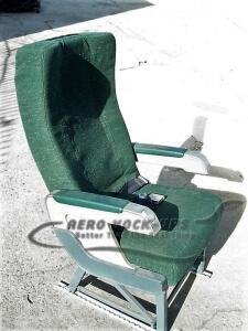 21-1-2 Recaro, single - Green - Aisle side a