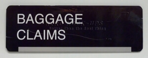 Sign - Baggage Claims door sign