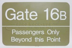 Sign - Gate 16B