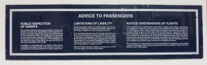 Sign - Advice to Passenger_Complete