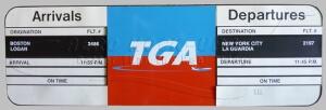 Sign - Arrivals & Depart - TGA