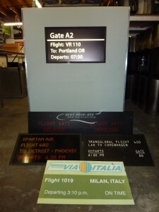 Gate Info Kiosk - Single Backlit