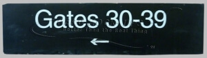 Sign - Gates 30-39 Black