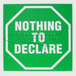 Sign - Nothing to Declare