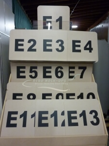 Signs - E Gate Numbers