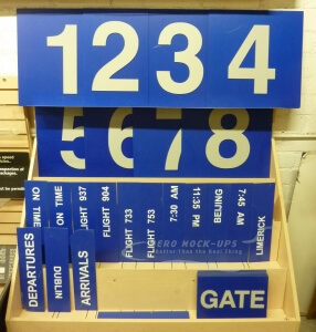 Signs - Gate & Numbers - Blue