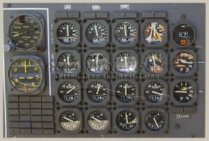 33-1 Panel, Inst - Analog Engine, 747