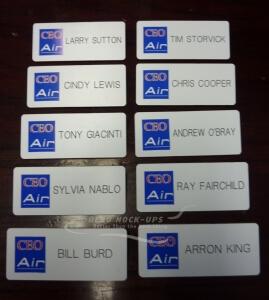 37-14 Badge, Name - Plastic, CEO Air
