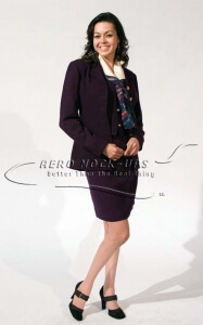 37-2 Flight Attendant Uniform, Purple