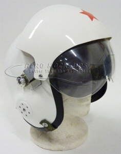 38-22 Helmet - Red star, 2 visors tn