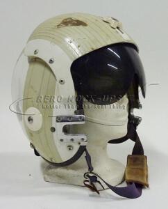 38-47 Helmet, Jet - White stripe, 1 visor