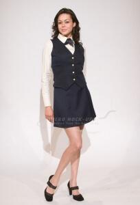 37-1-1S FA Skirt - Short, Dark Blue