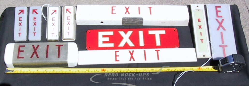 Sign, Cabin - Exit A