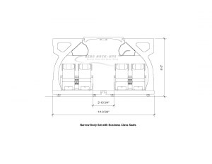 11-1 NB end view - Business Class drawing