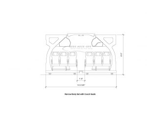 11-1 NB end view - Coach Class drawing