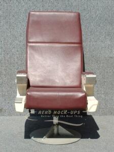 21-10-2 CC Swivel, Single - Red vinyl - Front