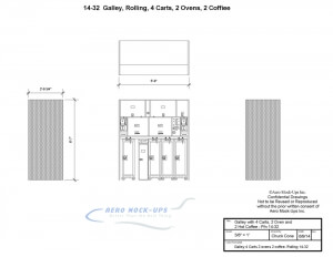 Galley 4 Carts 2 ovens 2 coffee - Rolling 14-32