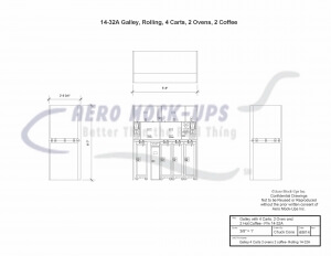 Galley 4 Carts 2 ovens 2 coffee - Rolling 14-32A