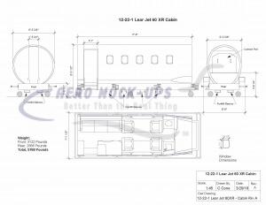 Lear Jet 60XR - Cabin Riv A