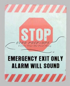32-11 Stop Emergency Exit Only Alarm tn