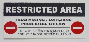 32-13 Restricted Area Trespassing