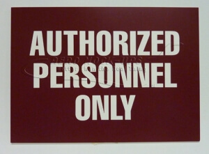 32-61 Authorized Personnel only