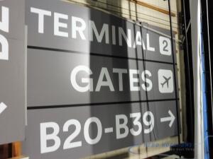 32-251 Sign - Terminal 2, Gates Rt B20-B39