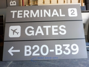 32-252 Sign - Terminal 2, Gates Lt B20-B39