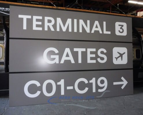 32-253 Sign - Terminal 3, Gates Rt C01-C19