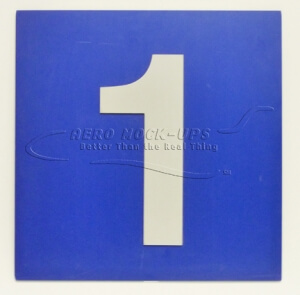 "Blue gate sign - ""1"""