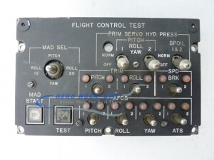 33-42 Panel, Ctrl - Flight Control Test