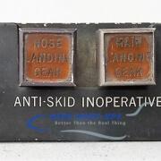 33-56 Panel, Ctrl - Anti-Skid Inoperative