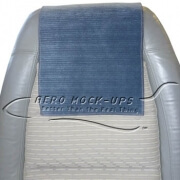 34-1 Antimacassar - Cloth, Blue with horizontal stripe