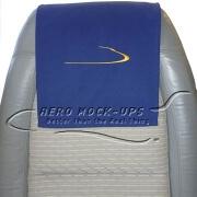 34-17 Antimacassar - Cloth, Blue insignia with fuzzy Velcro
