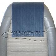 34-2 Antimacassar - Cloth, Blue with vertical stripe