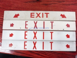 34-48 Sign, flat - Exit, horiz - 2 Red arrows