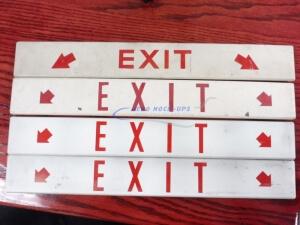 34-48 Sign, flat - Exit, horiz - 2 Red arrows