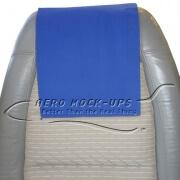 34-5 Antimacassar - Cloth, Blue - fuzzy Velcro