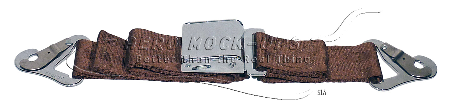 39-34 Seat belt, Pax - Square, Brown