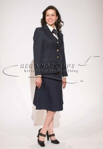 37-1 Cabin crew (W) - A frame uniform - Navy with long skirt