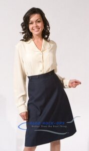 37-19 Skirt - 4 Button - Navy with 37-5 Cream Blouse