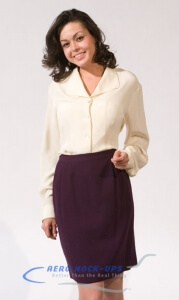 37-2-1 Skirt - Purple and 37-5 Cream Blouse