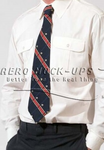 37-8 Blue and red striped tie