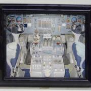 38-54 Print - Cockpit, framed