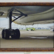 38-55 Print - Landing gear, framed